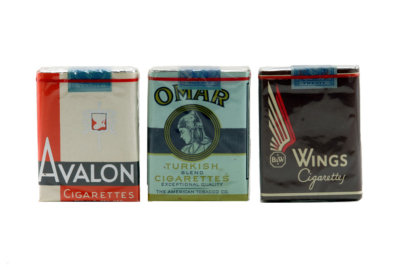 vintage cigarettes avalon omar wings