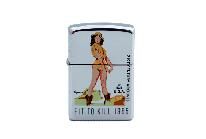 zippo lighter 21 st century archives gil elvgren fit to kill