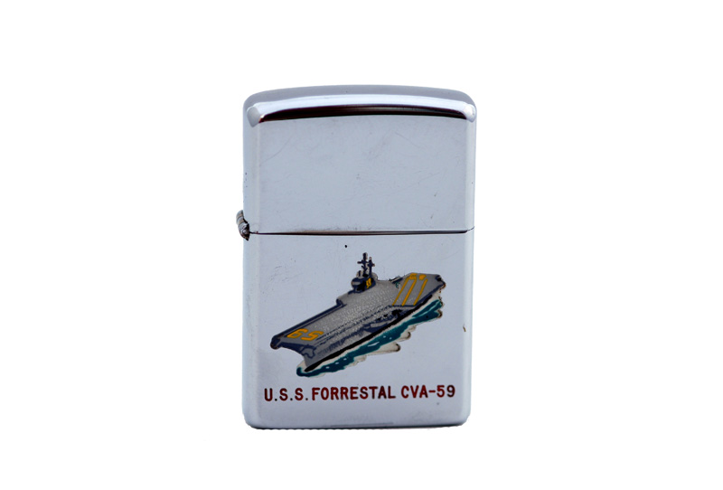 vintage zippo cigarette lighter U.S.S. independence 1
