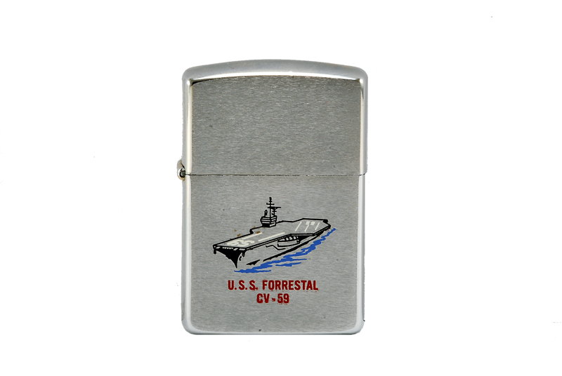 vintage zippo cigarette lighter U.S.S. independence 2
