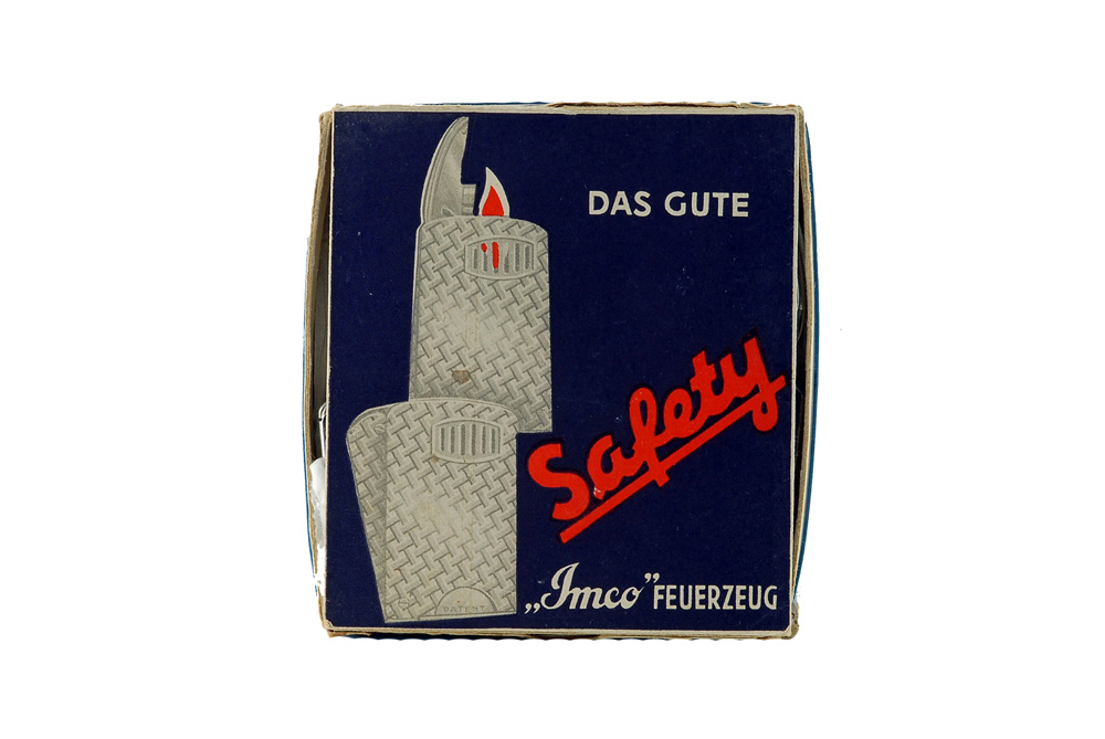 vintage imco box of 12 1935 saftey 4200 cigarette lighters 1